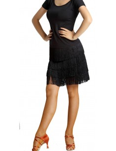 Salsa dance skirt with fringes