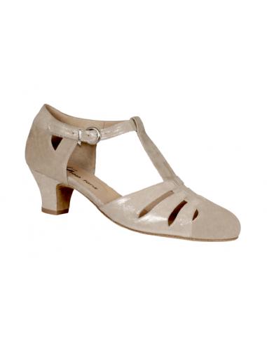 Chaussures de danse Coco beige peau
