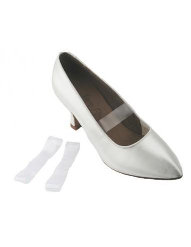 Ballroom dance shoe elastics