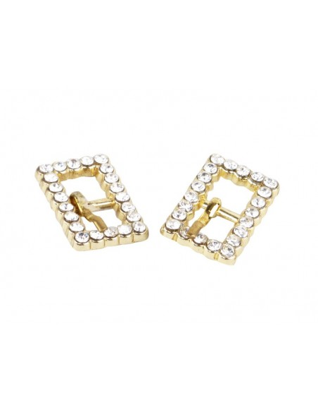 Rhinestone buckles for dance shoes