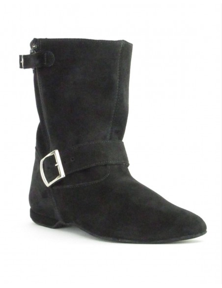 Suede West Coast Swing Ankle Boot