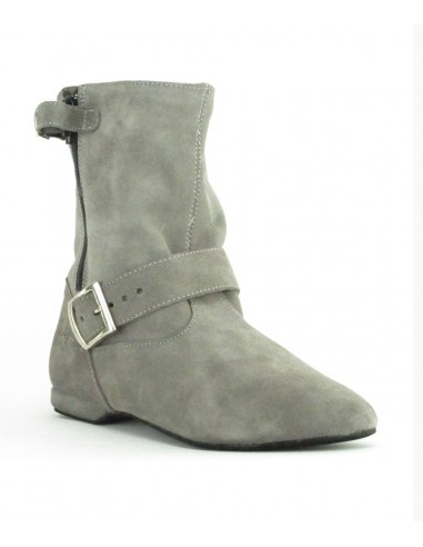 West Coast Swing dance boot grey suede