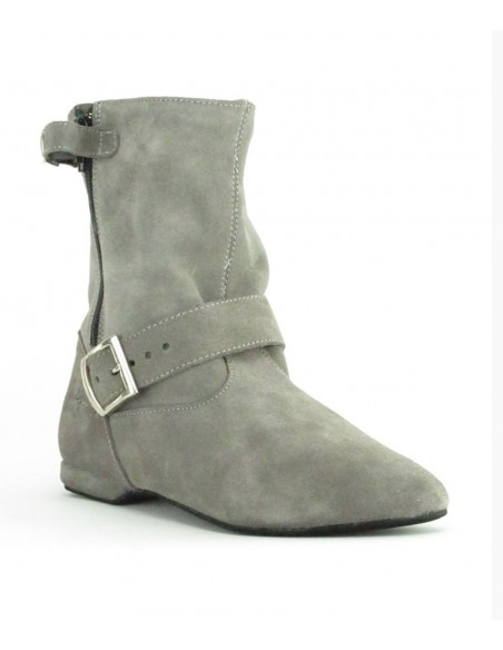 West Coast Swing dance boot grey suede