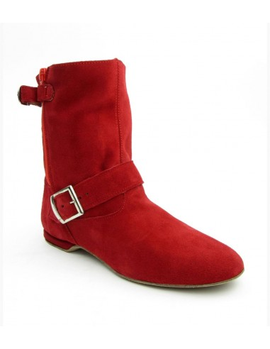 West Coast Swing dance boot red suede
