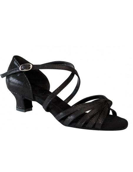 Damentanzschuh schwarz Leder 2342