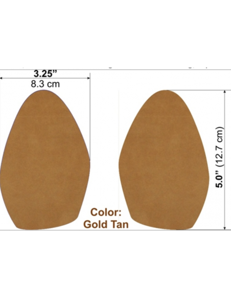 Semelle de remplacement cuir daim