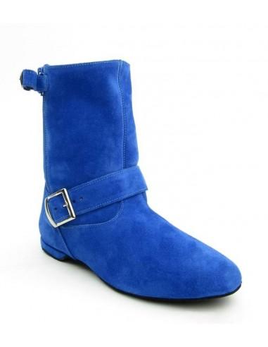 Westcoast Swing Tanzstiefelette blue suede