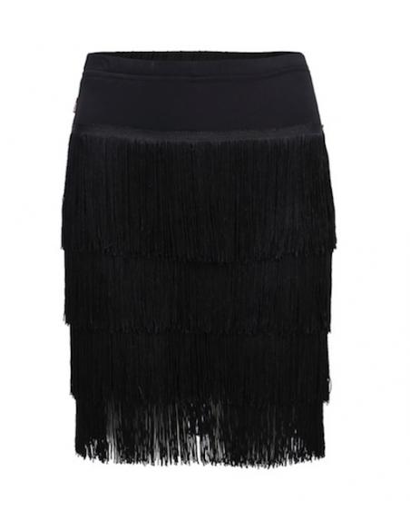Salsa dance skirt with fringes