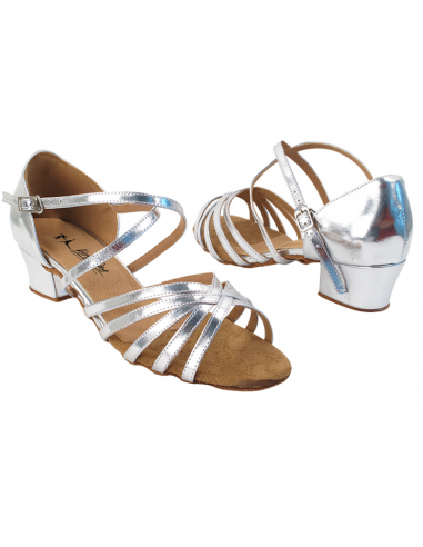 Low heel dance shoe 1670C silver