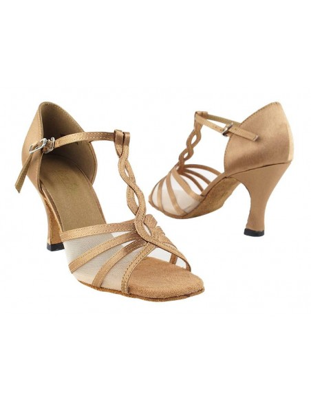 Ladies dance shoe 1692 tan