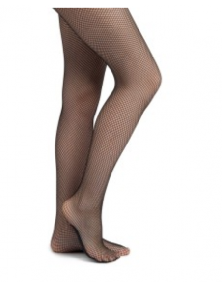 Mesh tights with foot