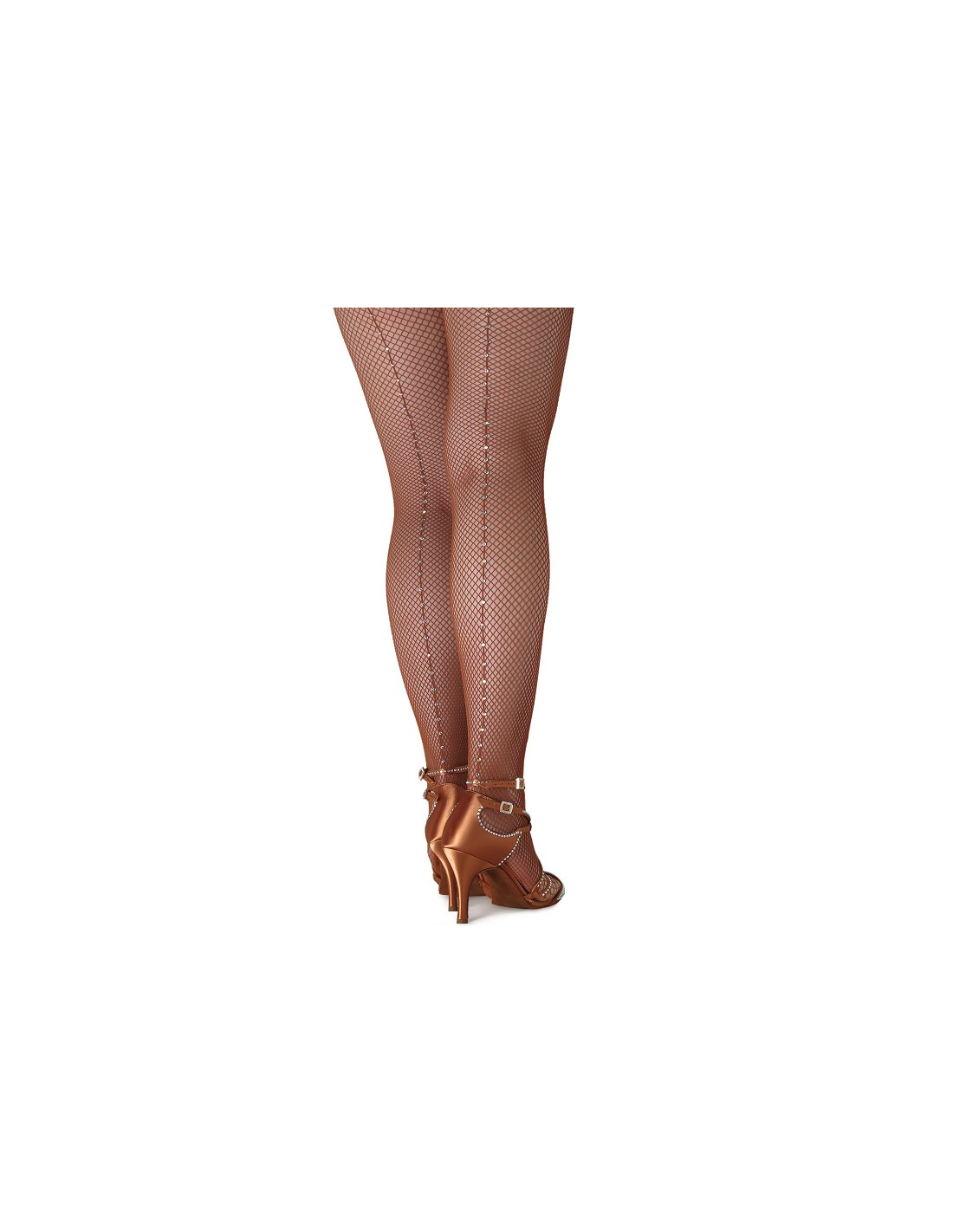 cc515c0e9739e Professional quality fishnet dance tights with crystals with foot ...