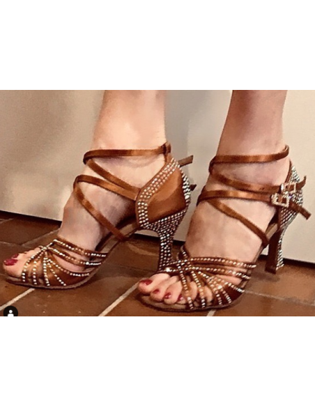 Ladies crystal dance shoe S1006CC