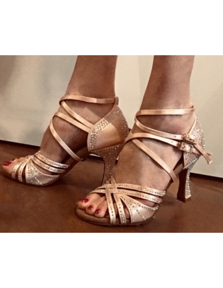 scarpa di ballo con strass S1006CC