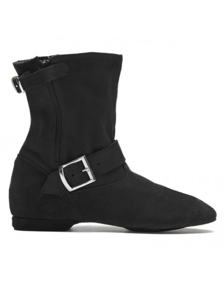Suede Leather West Coast Swing Ankle Boot