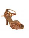 Ladies crystal dance shoe S1003CC