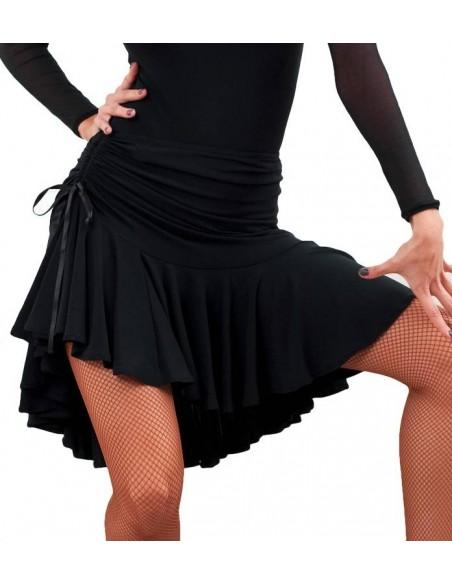 Black salsa dance skirt