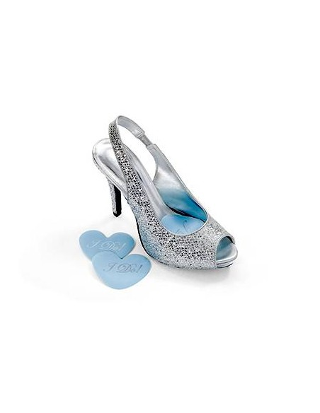 Heart bridal shoe cushions I do