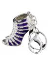 Crystal shoe keyring