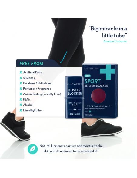 Anti-blisterstick sport