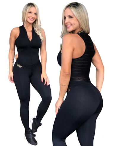 Black Dance jumpsuit lace back